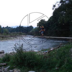 Lanový most přes Těreblu