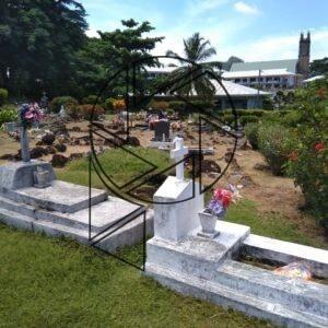 Hřbitov v Baie Lazare