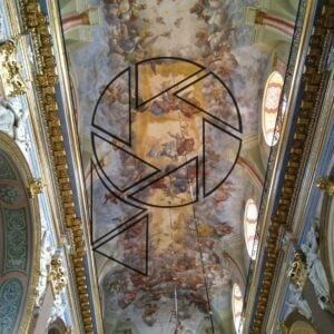 Strop lodi Bernardského kostela