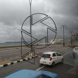 Bouřlivé uvítání - uzavřený Malecon
