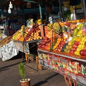 Čerstvé ovocné šťávy na Jemaa el-Fnaa